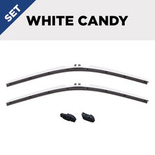 "Load image into Gallery viewer, CLIX White Candy Precison Fit Click-on Wiper Blades - 24"" 22"""