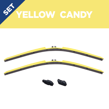"Load image into Gallery viewer, CLIX Yellow Candy Precison Fit Click-on Wiper Blades - 22"" 18"""