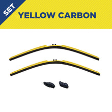 "Load image into Gallery viewer, CLIX Yellow Carbon Precison Fit Click-on Wiper Blades - 20"" 18"""