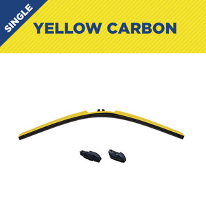"18"" CLIX Yellow Carbon WIper Blade X2 CLip"