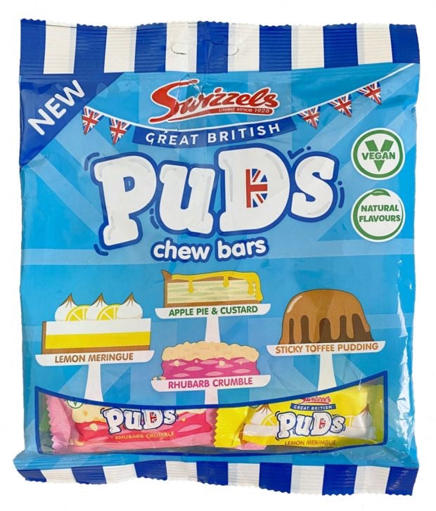 Swizzels Great British Puds Chew Bars Bag 135g