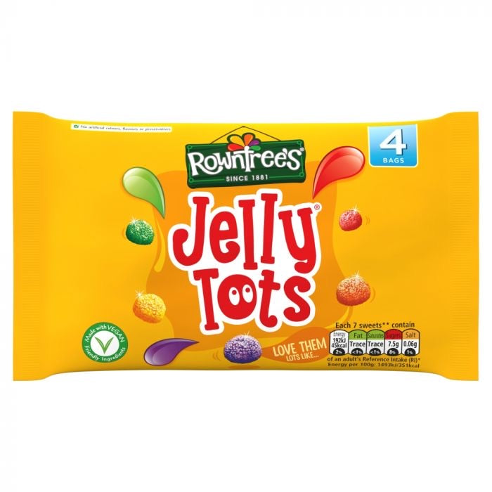Rowntree's Jelly Tots Sweets 4 Pack 112g