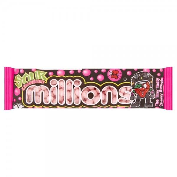 millions sour strawberry tube