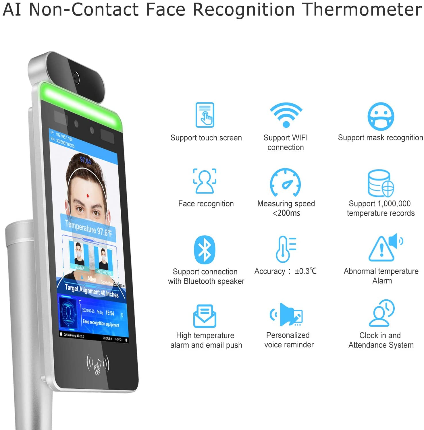 Touchless Body Temperature Scan Detection Kiosk