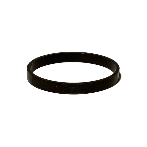 The Faith Bangle In Black