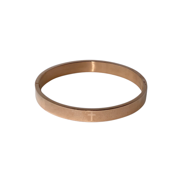 The Faith Bangle In Rose Gold