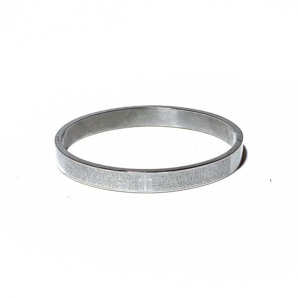 The Faith Bangle In Steel