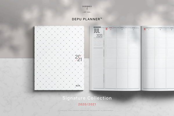 DEPU Planner™ Signature Collection | Printable Planner 2020/2021 | Weekly Vertical Layout | Letter Size 8.5x11 inch