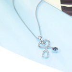 Stethoscope Necklace With Swarovski Crystals