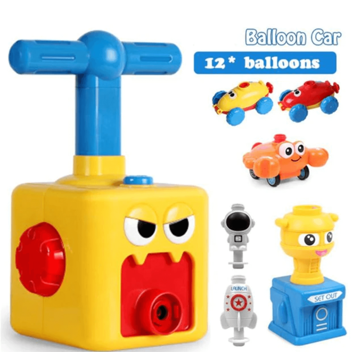 Balloon Launcher Car Toy Set (50% OFF)