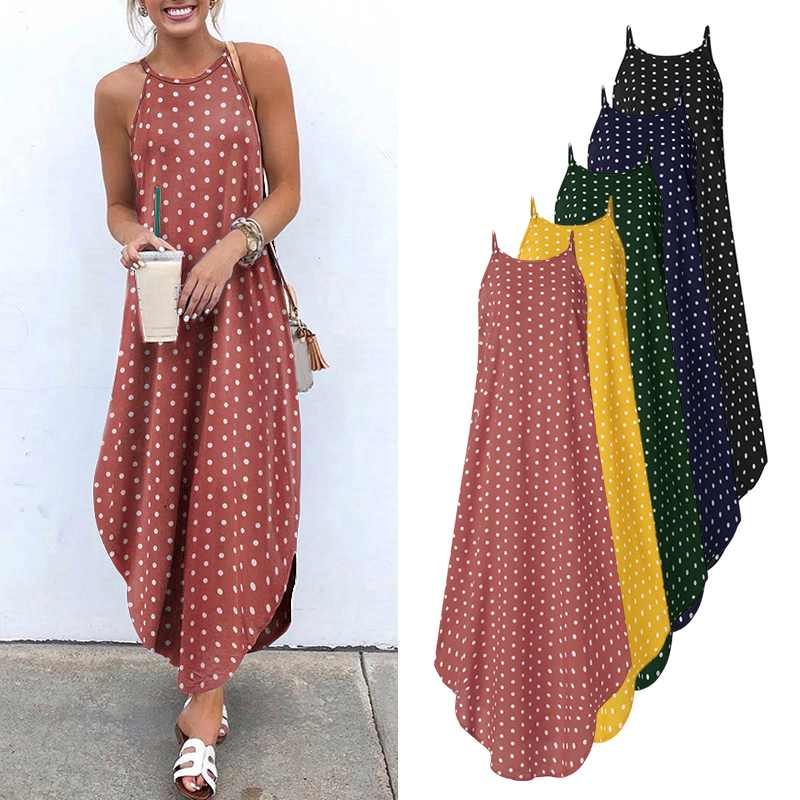 Women's Dot Maxi Dress