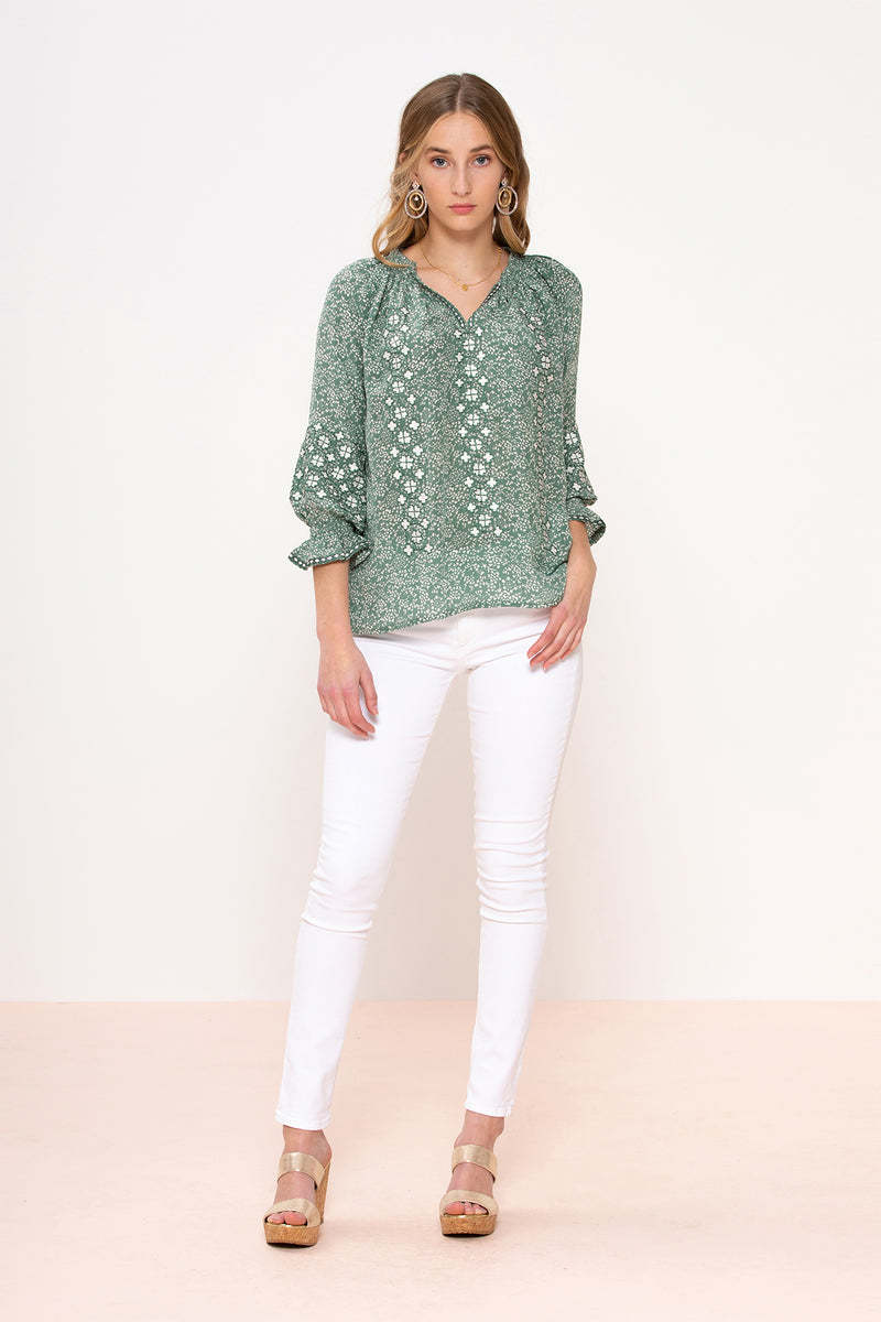 Barcelona Embroidered Blouse
