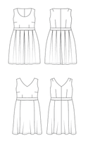 Cashmerette Upton dress sewing pattern (US 12-28)