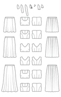 Cashmerette Upton dress and skirt sewing pattern with expansion pack (US 12-32 cup sizes C-H)