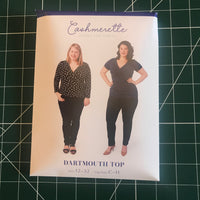 Cashmerette Dartmouth wrap top sewing pattern (US sizes 12-28)