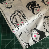 "Faces ""quilting"" cotton woven fabric (per half metre)"