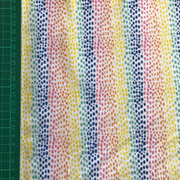 Rainbow stripe cotton woven fabric (fat quarter)