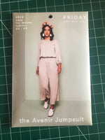 Friday Pattern Co. Avenir jumpsuit sewing pattern (XS-4X)