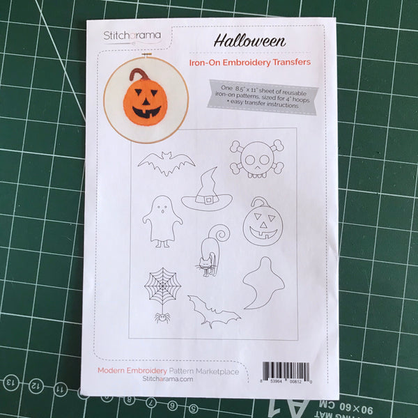 Halloween Iron-On Embroidery Transfers