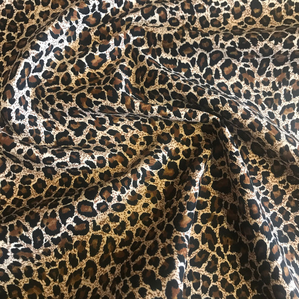 Leopard/animal print pattern corduroy cotton woven fabric (per half metre)