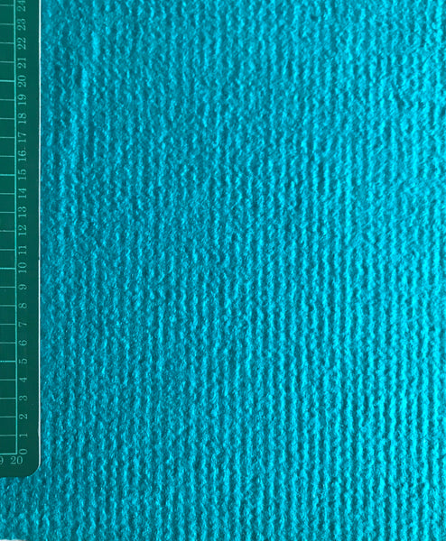 Turquoise boiled wool fabric (per half metre) for coats and outerwear