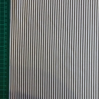 Grey narrow stripe cotton poplin woven fabric (per half metre)