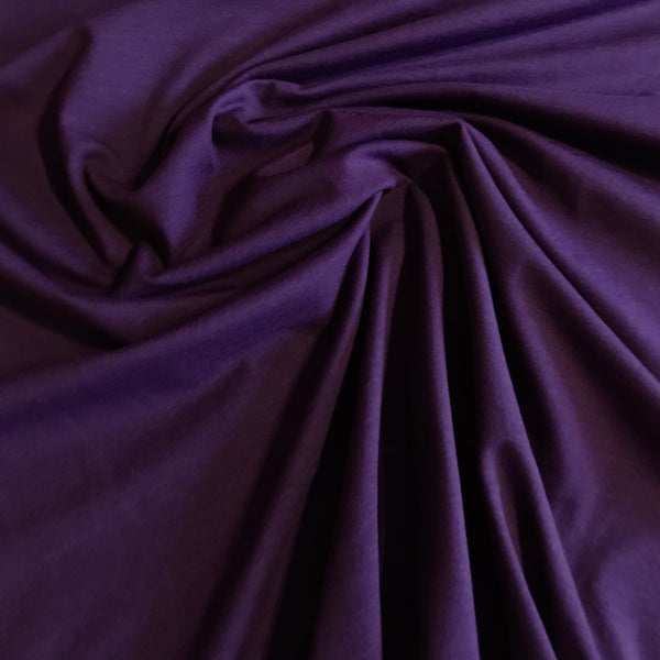 Purple t-shirt jersey knit fabric (per half metre)