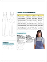 Tilly and the Buttons Mila Dungarees Paper Sewing Pattern (UK sizes 6-20)