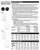 Thread Theory Belvedere waistcoat sewing pattern (XS-4XL)