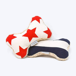 Adventure Bone Dog Toy - Red Star and Blue Stripe