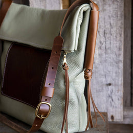 The Julep I Limited Edition Leather Shoulder Bag - Mint
