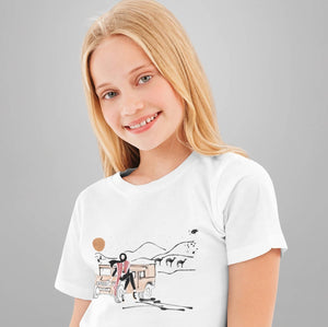 "Load image into Gallery viewer, White Graphic ""Desert Girl"" Youth Tee"