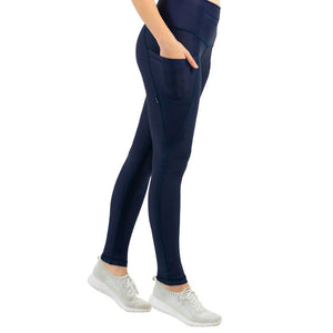 Load image into Gallery viewer, 3-Pocket Dart Leggings - Navy Blue
