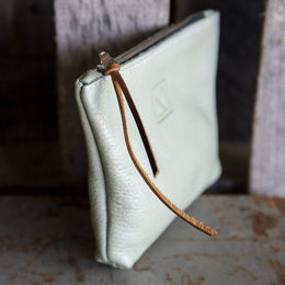 The Julep iii Small Leather Pouch - Mint