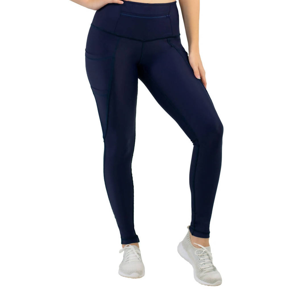 3-Pocket Dart Leggings - Navy Blue