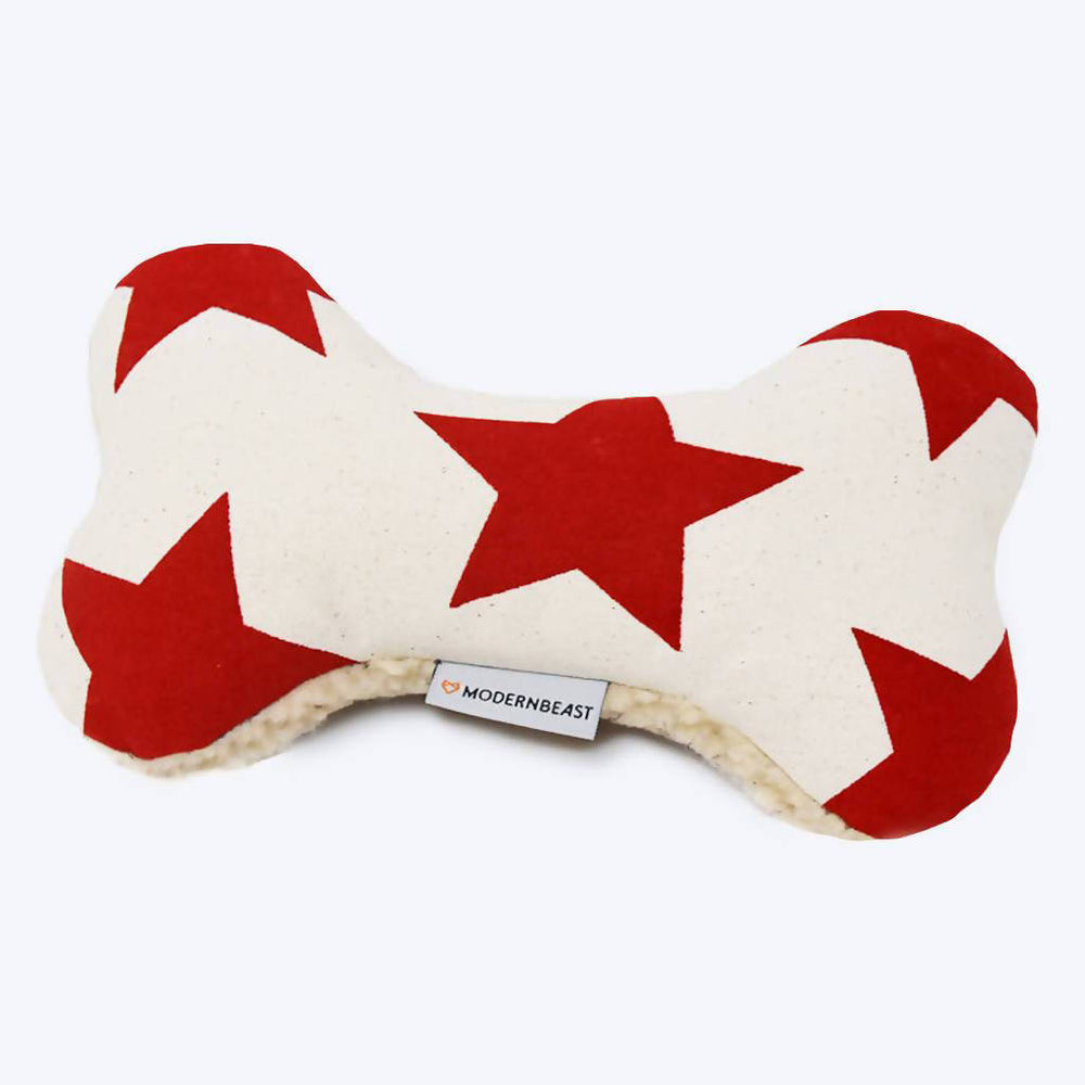 Load image into Gallery viewer, Adventure Bone Dog Toy - Red Star and Blue Stripe