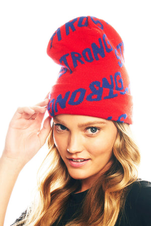 Load image into Gallery viewer, Krissy Beanie - Red/Navy