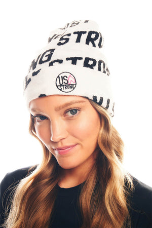 Load image into Gallery viewer, Krissy Beanie - White/Black