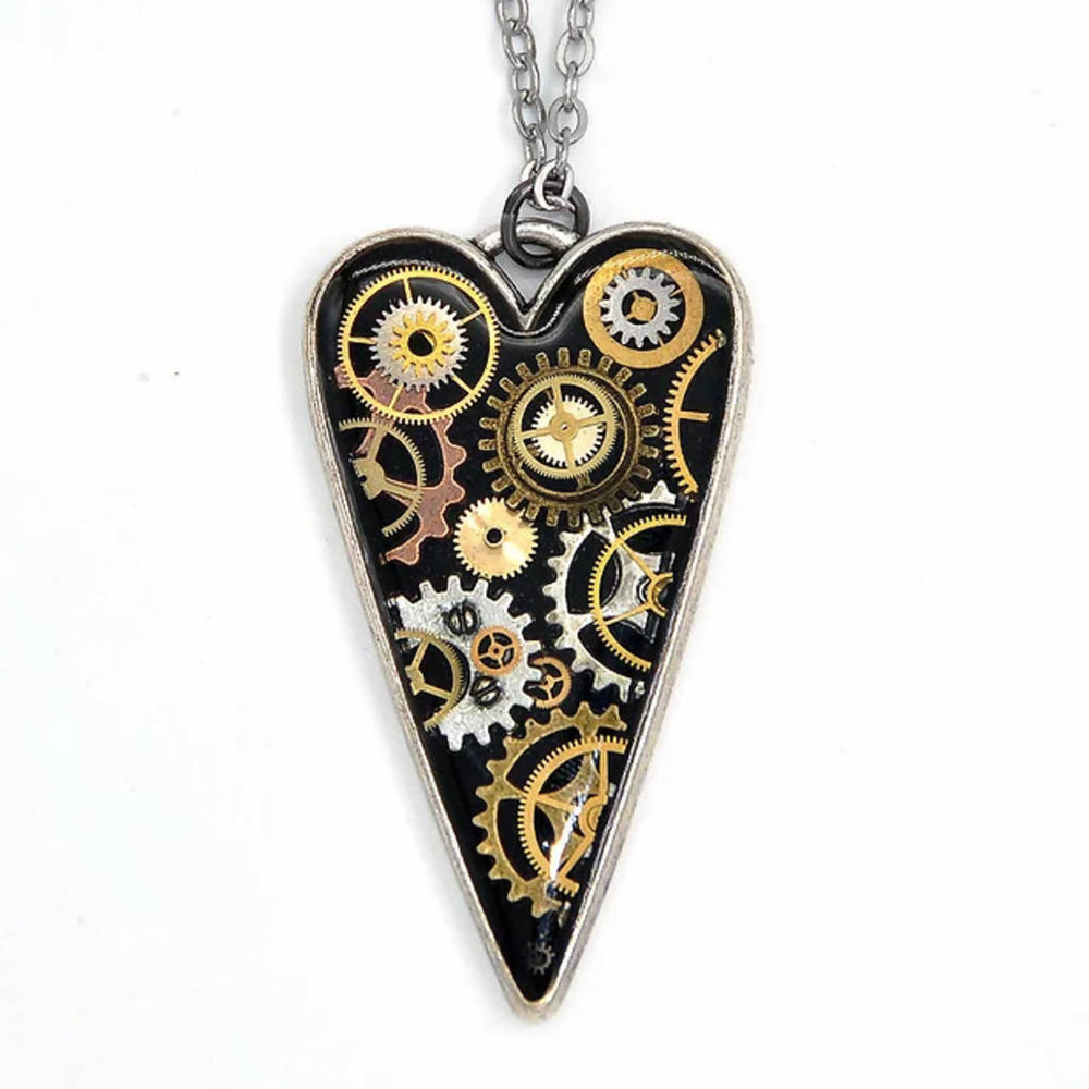 Large Heart Watch Part Necklace