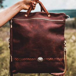 Wander Convertible Leather Backpack