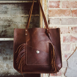 Wander Large Leather Tote Bag