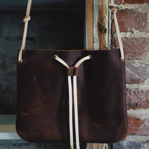 Load image into Gallery viewer, Falling For You Leather Crossbody Purse - Rustic Brown