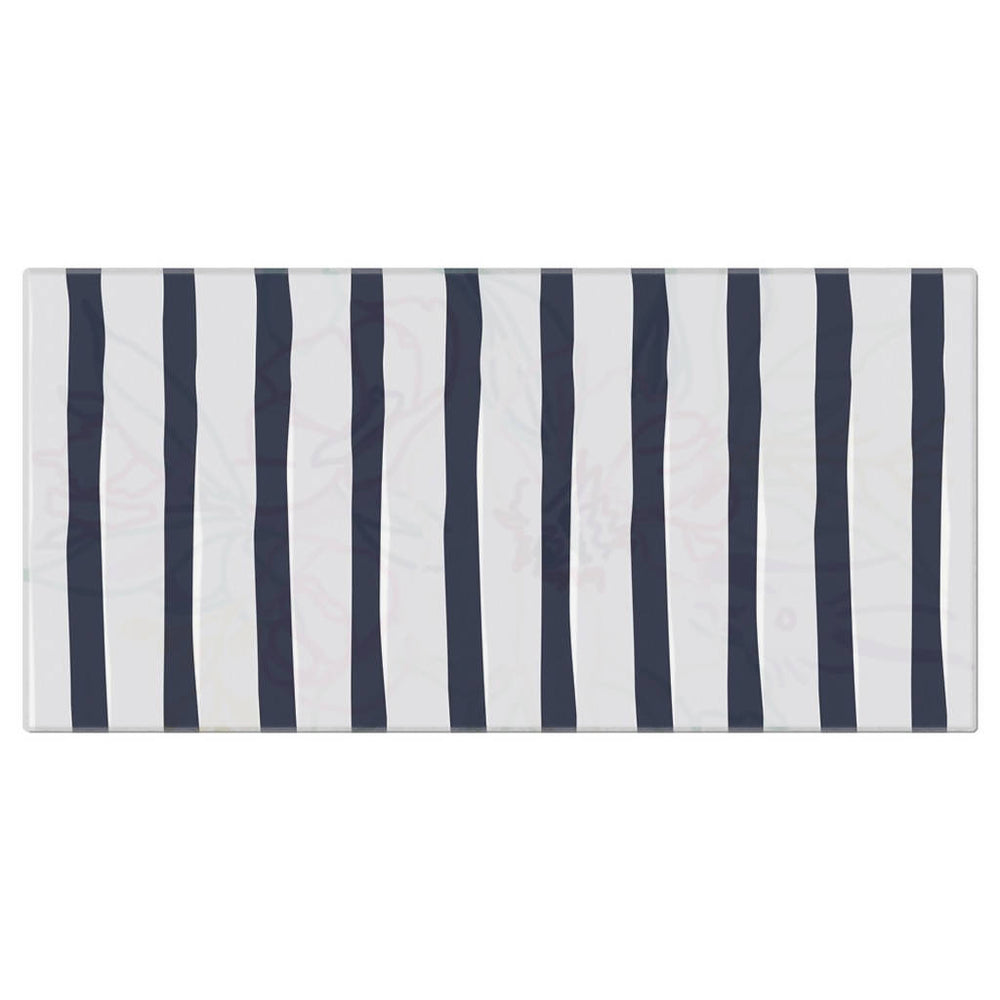 "Load image into Gallery viewer, Navy Ticking Beach Towel - 36""x72"""