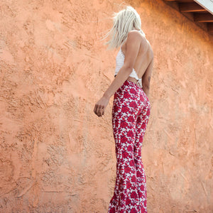 Load image into Gallery viewer, Rose Bohemian Bell Bottom Pants Free Ship