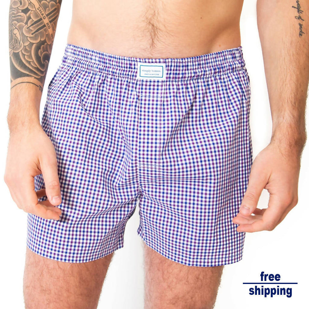 The Murray Hill Plaid Boxer - Multi