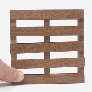 Load image into Gallery viewer, Mini Pallet Mahogany Coasters Pieces - 5 Pack