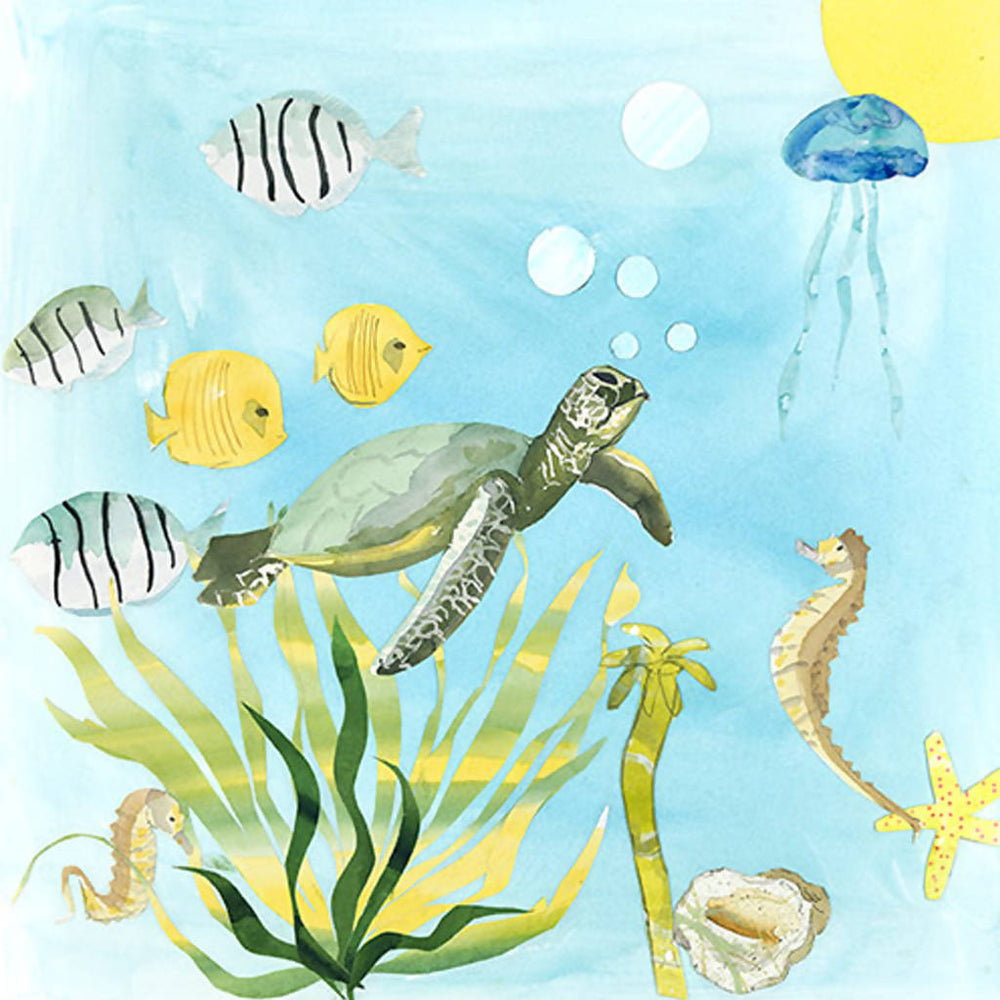 Turtle Time Wall Art Print - 2 sizes
