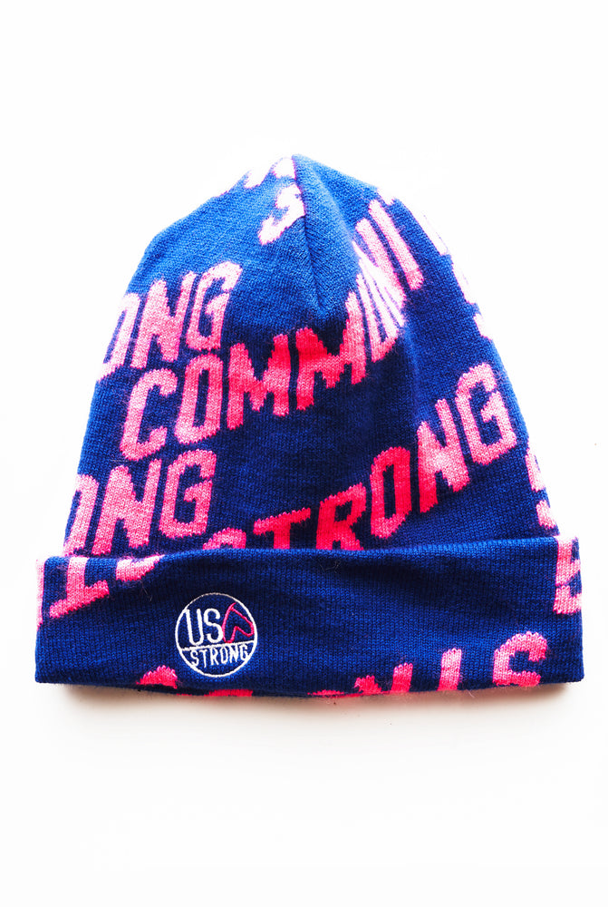 Load image into Gallery viewer, Krissy Beanie - Blue/Pink