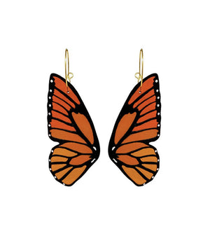 Load image into Gallery viewer, Monarch Butterfly Wing Hoop Earrings