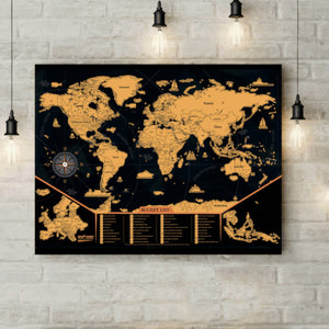 Load image into Gallery viewer, Newverest Scratch Off Map Of The World